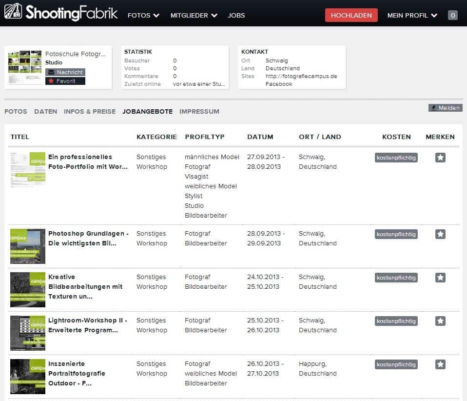 FotografieCampus - Jobliste