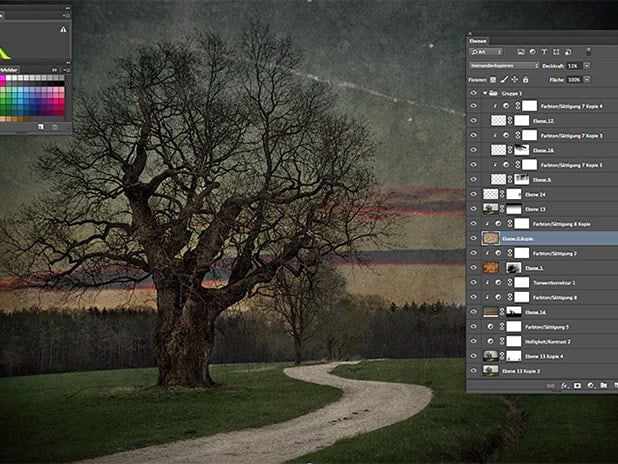 Photoshop Texturen Workshop Landschaft